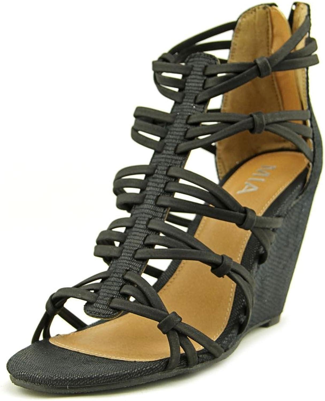 MIA Womens Dylon Open Toe Casual Strappy Sandals