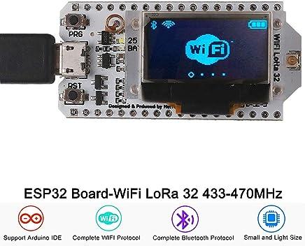 Amazon com: esp32 lora oled 433