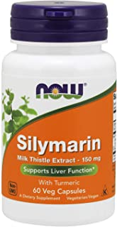 NOW Foods - Silymarin Milk Thistle Extract 150 mg. - 60 Vegetarian Capsules