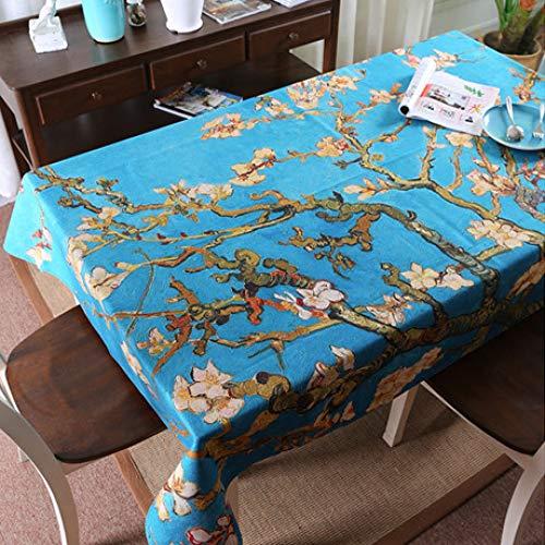 Pintura al óleo Vincent Van Gogh Clásico Rectangular Mantel Mantel de Lino Lavado Mantel Mantel Varios tamaños