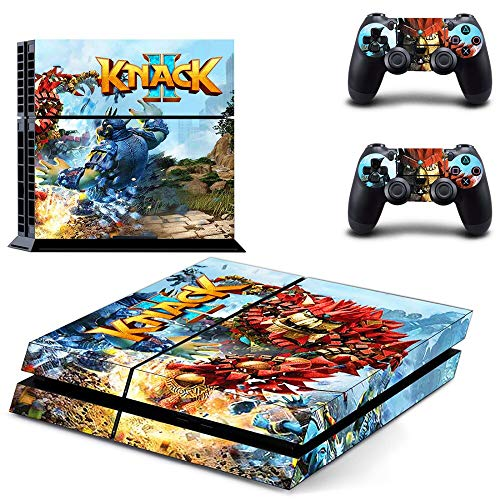 FENGLING Game Knack 2 Ps4 Skin Sticker Decal para Playstation 4 Console y 2 Controller Skin Ps4 Sticker Accesorios de Vinilo