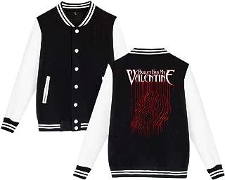 BBABC Bullet For My Valentine Logo Mens & Womens Particular Hoodie Baseball Uniform Jacket Sport Coat Black