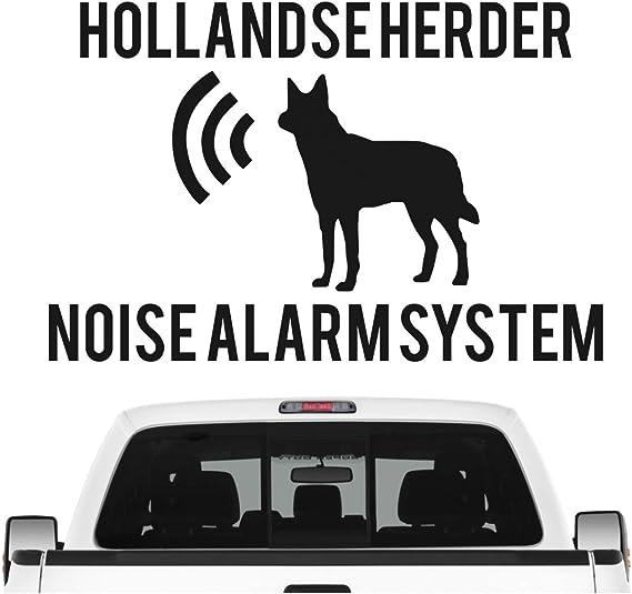 Siviwonder Hollandse Herder Noise Alarmsystem Auto Aufkleber Hund Folie Herdershond Farbe Gold Metallic Größe 10cm Auto