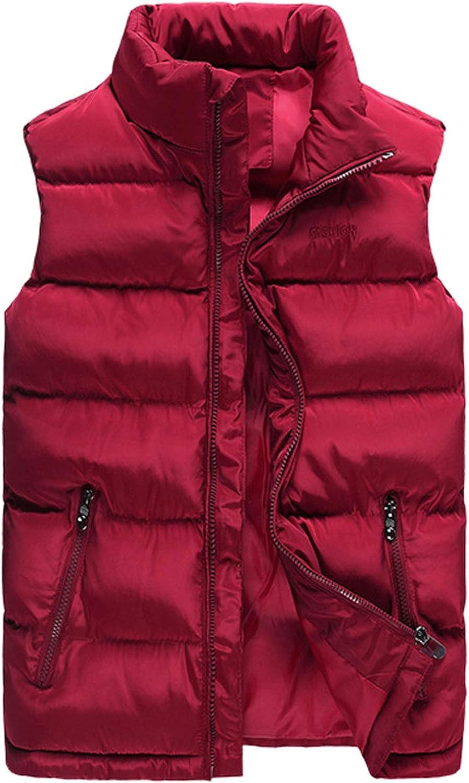 Flygo Men's Winter Quilted Puffer Vest Outdoor Water-Resistance Full Zip Down Vest