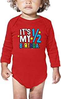 HAASE UNLIMITED It's My 1/2 Birthday - Half 6 Months Old Bodysuit