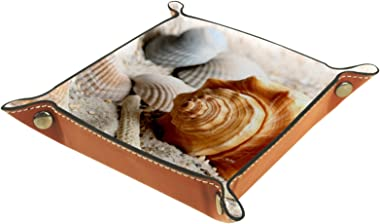 Yitian Leather Tray PU Leather Jewelry Catchall Shells Mussels Shellfish Snail for Change Jewelry Key Phone Watches Dice Soft