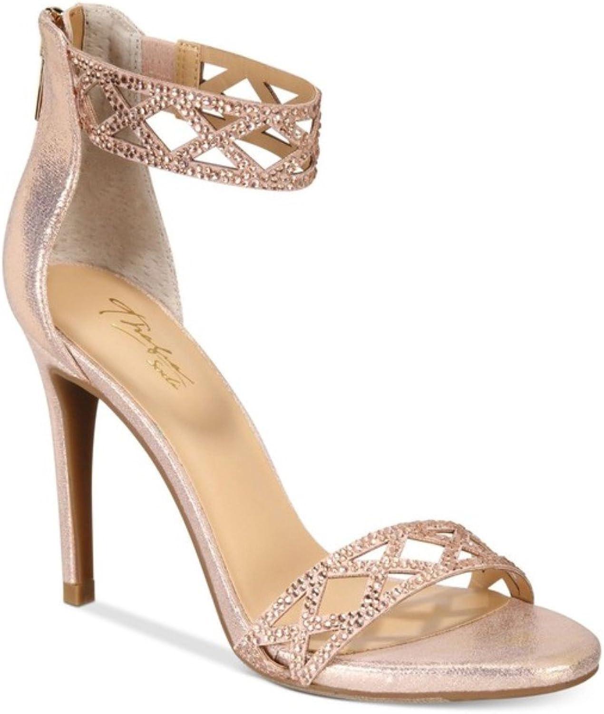 Thalia Sodi Womens Riana Faux Suede Evening Sandals Pink 11 Medium (B,M)