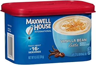 Maxwell House Latte Instant Coffee, Vanilla Bean, 8.5 Ounce (Pack of 1)