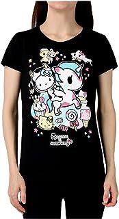 Tokidoki Japanese Anime Milk and Sugar Hello Kitty Women's Black T-Shirt