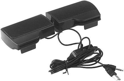 Morning May Mini Altoparlante Stereo Portatile USB Soundbar per Notebook Laptop Mp3 Telefono Music Player Computer PC con Clip Nero - Trova i prezzi più bassi