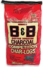 B & B Charcoal 00106 Competition Char-logs Charcoal Briquettes, 30 Lbs