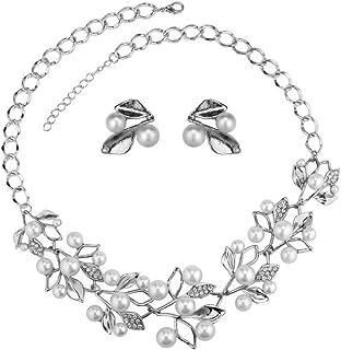YouBella Stylish Latest Design Necklace Jewellery Jewellery Set for Women (Silver) (YBNK_5677)