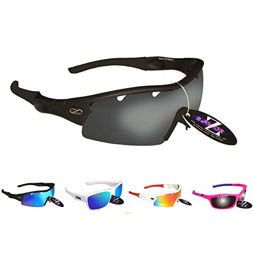 Rayzor Professional Cycling Sunglasses for Men and Women Lightweight Biking Sports Wrap Eyewear UV400