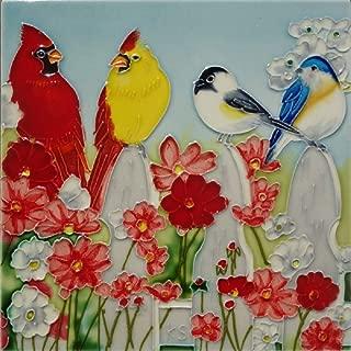 Kenneth Schilling Hand Painted Ceramic Tile BKS-022