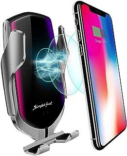 MMOBIEL Trådlös billaddare infraröd sensor Qi snabbladdning 10 W max telefonhållare kompatibel med iPhone 12 Pro (Max)/11/...