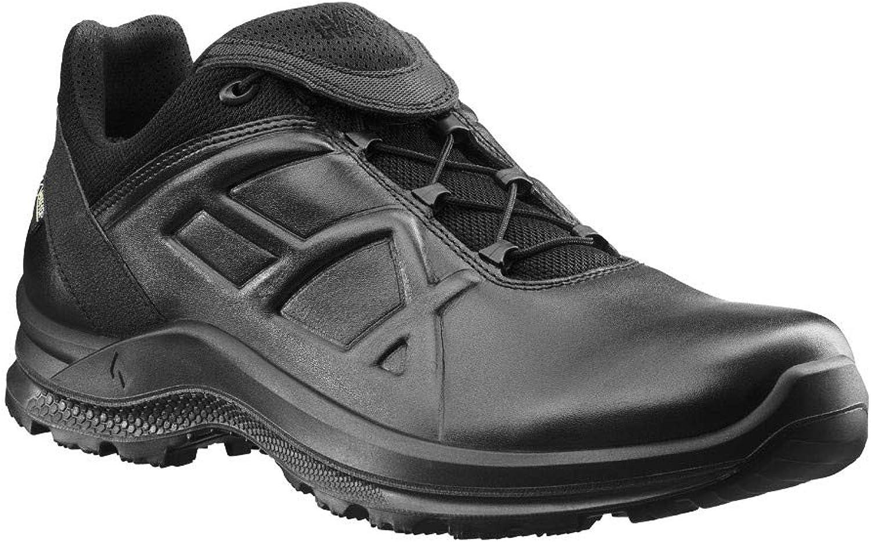 Haix schwarz Eagle Tactical 2.0 GTX Low schwarz Wetterfest und atmungsaktiv  Praktische Lederschuhe für Soldaten und