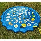 Vinteen 170cm / 68inThe New verdicken Umweltschutz PVC-Kind-Paddel Wasser-Spray-Pad Outdoor-Game Pad Sprühtank-Brunnen-Spiel-Matte Kein Schlauch