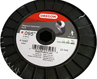 Oregon 22-595 Gatorline Heavy-Duty Professional Magnum 5-Pound Spool of .095-Inch-by-1445-Foot Round String Trimmer Line