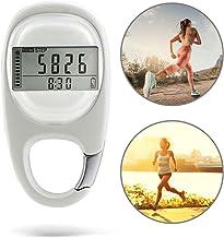 Macabolo Draagbare 3D digitale stappenteller Walking Stappenteller Activity Fitness Tracker met karabijnclip voor mannen/vrouwen/huisdieren