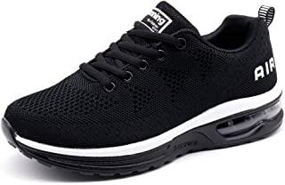 Women's Running Shoes Breathable Air Cushion Sneakers Black Size: 10