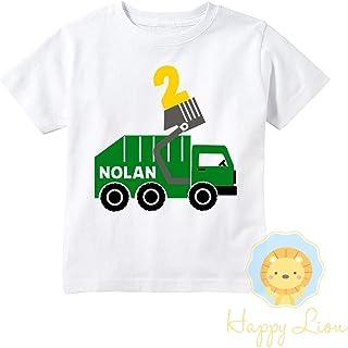 Happy Lion Clothing - Garbage truck shirt, garbage truck birthday Party shirt, trash truck shirt