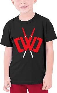 Youth Fashion Chad Wild Clay Custom T-Shirt Boy Girl Colorful Tops (Black,)