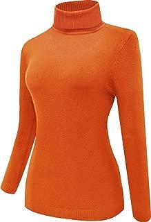 Women Orange Turtleneck Sweater