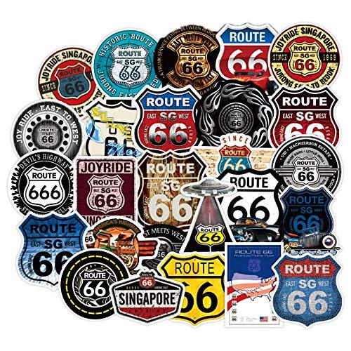 Later Pegatinas de números de carretera para equipaje europeos y americanos retro viejos pegatinas grandes para coche, 50 unidades