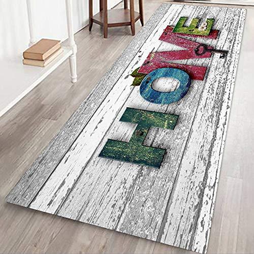 Tappeto antiscivolo, grande, a strisce, da usare come zerbino o per soggiorno, camera da letto, corridoio, cucina, Tessuto, L, 60x180cm/2x6ft