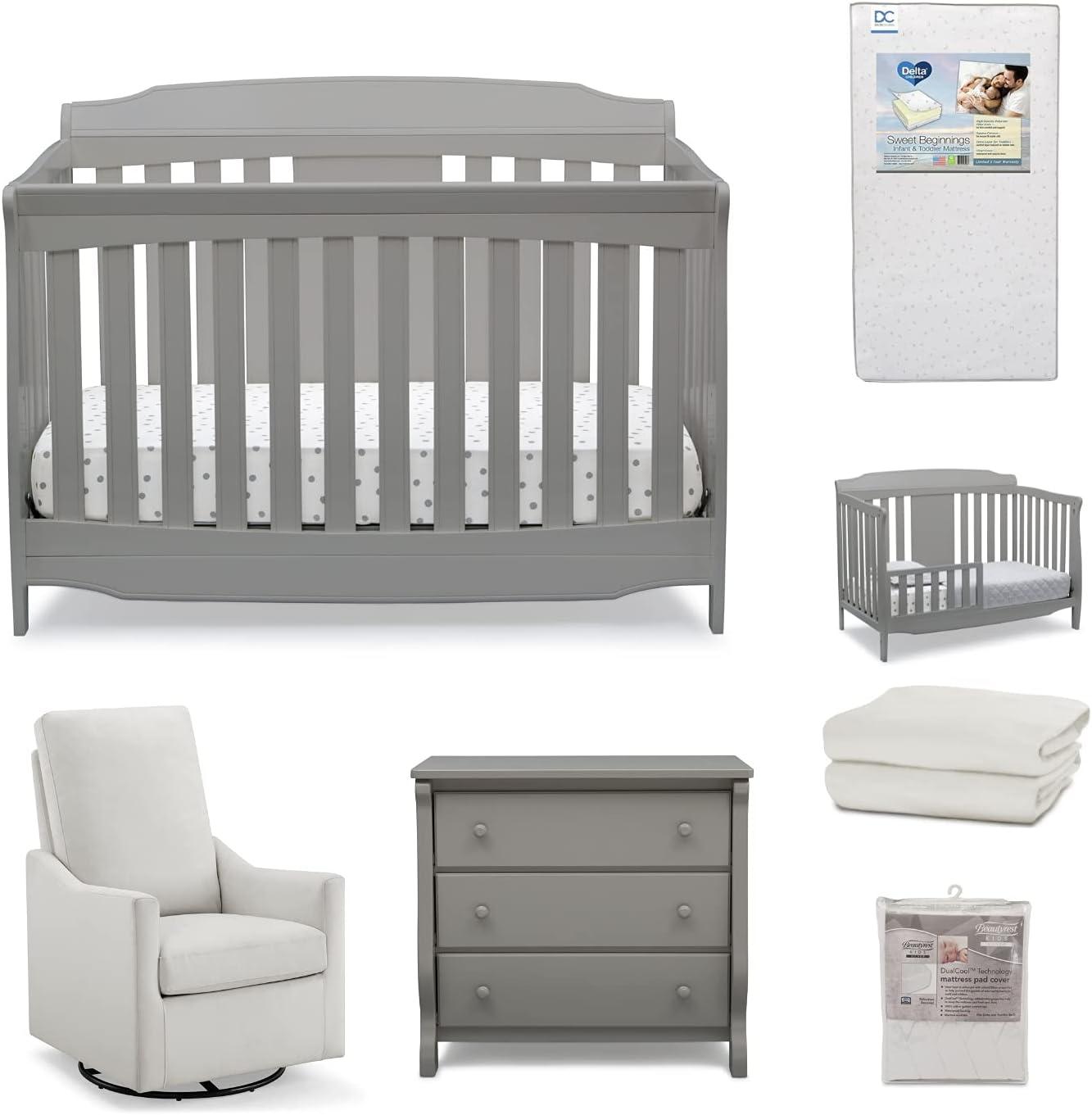 Delta Children Archer 7-Piece Baby – Set Inclu Nursery Furniture Kansas City Mall Albuquerque Mall