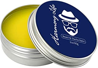 EZGO Beard Balm Conditioner-Styles, Strengthens and Thickens for Healthier Beard Growth, Beard Wax Boost Shine and Maintains Hold, 2oz
