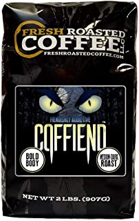 Fresh Roasted Coffee LLC, Coffiend Coffee, Artisan Blend, Medium-Dark Roast, Whole Bean, 2 Pound Bag