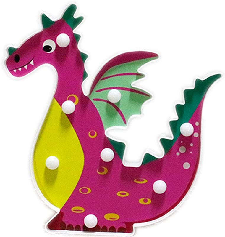 HAVOP Dragon LED Night Light Children Kids Bedroom Decorative Table Lamp Wall Light Marquee Animal Sign Birthday Gift Pink