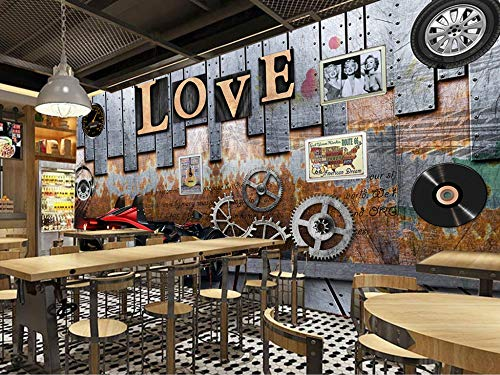 Mural Wallpaper Europa e Stati Uniti Gear Locomotiva Ktv Bar Coffee Shop Tv divano sfondo muro Home Decor personalizzato di qualsiasi dimensione