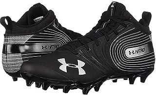 Under Armour Men's Nitro Mid MC Football Cleats Shoe, 3000181-001 Black Size 11.5