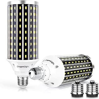 50W Super Bright LED Corn Light Bulbs(400 Watt Equivalent) - E26/E39 Mogul Base LED Bulbs - 6500K Daylight 5000 Lumens for Large Area Lighting - Garage Shop Warehouse Barn High Bay[Twin Value Pack]