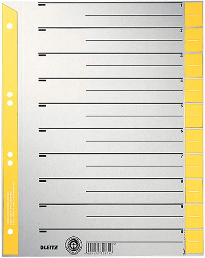 Import Allemagne Esselte Leitz 1652-00-45 Lot de 100 Intercalaire A4 Orange