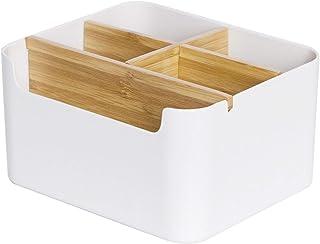 boîte de rangement en bois de bureau de papeterie de bureau, Porte Stylo de Boîte de Rangement,Boîte Rangement pour Téléco...