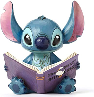 """Jim Shore for Enesco 4048658 Disney Traditions """"Lilo and Stitch"""" Stitch with a Storybook Stone Resin Figurine, 5.75"""""""