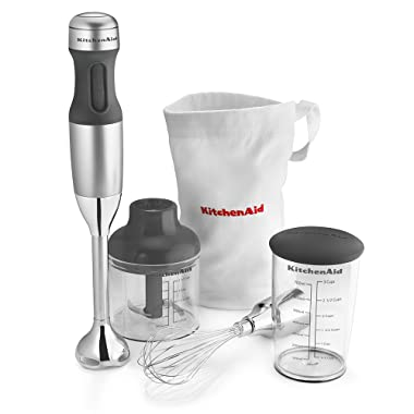 KitchenAid KHB2351CU 3-Speed Hand Blender - Contour Silver, 8 inches