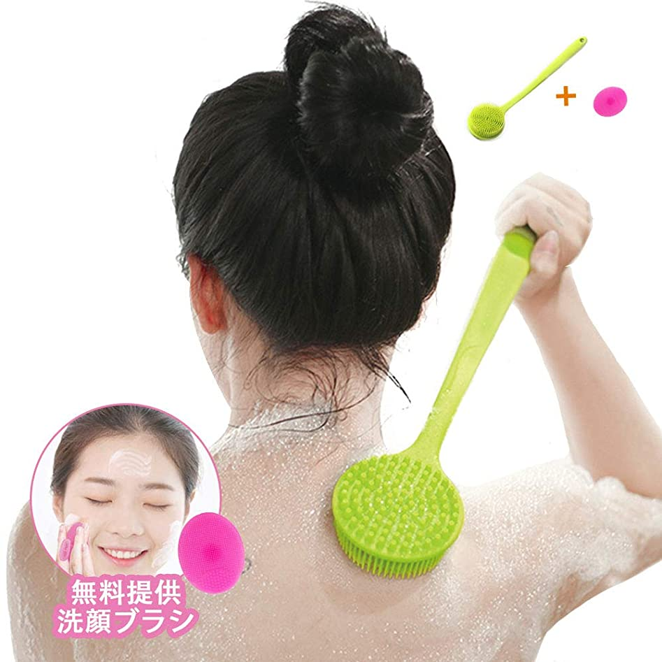 モーション爪かるNewsmy ボディブラシ シャワー お風呂 体洗いブラシ バスブラシ シリコーン 多機能 超柔らかい毛 血行促進 角質除去 洗顔ブラシ