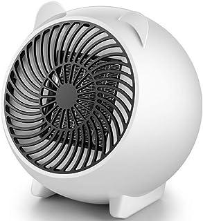 Calefactor Ventilador Redondo Espacio Personal Radiador 250W Swing PTC Calentador MUTE Termostato Ajustable Mesa De Piso De Inicio,White