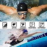 Schwimmbrille , otumixx Schwimmbrillen für Erwachsene Antibeschlag UV Schutz Verstellbar Gurt Komfort fit, Hrstöpsel & Nasenklammern mitgeliefert, Schwimmbrille für Herren Damen und Kinder - Schwarz - 2