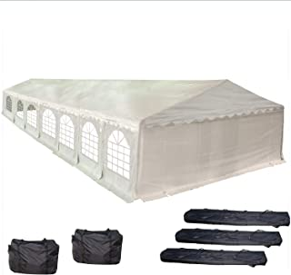 46'x20' PE Party Tent White - Heavy Duty Wedding Canopy Carport Shelter - with Storage Bags - By DELTA Canopies