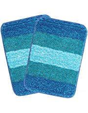 Saral Home Microfiber Bath Mat 35x50cm Turquoise Pack of 2