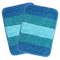 Material and feature good quality microfiber adds super-soft feel/comfort. it also increases the product durability. the mat's construction and fine denier thread absorb water instantly and dry faster Performance anti-skid features keep the mat in pl...