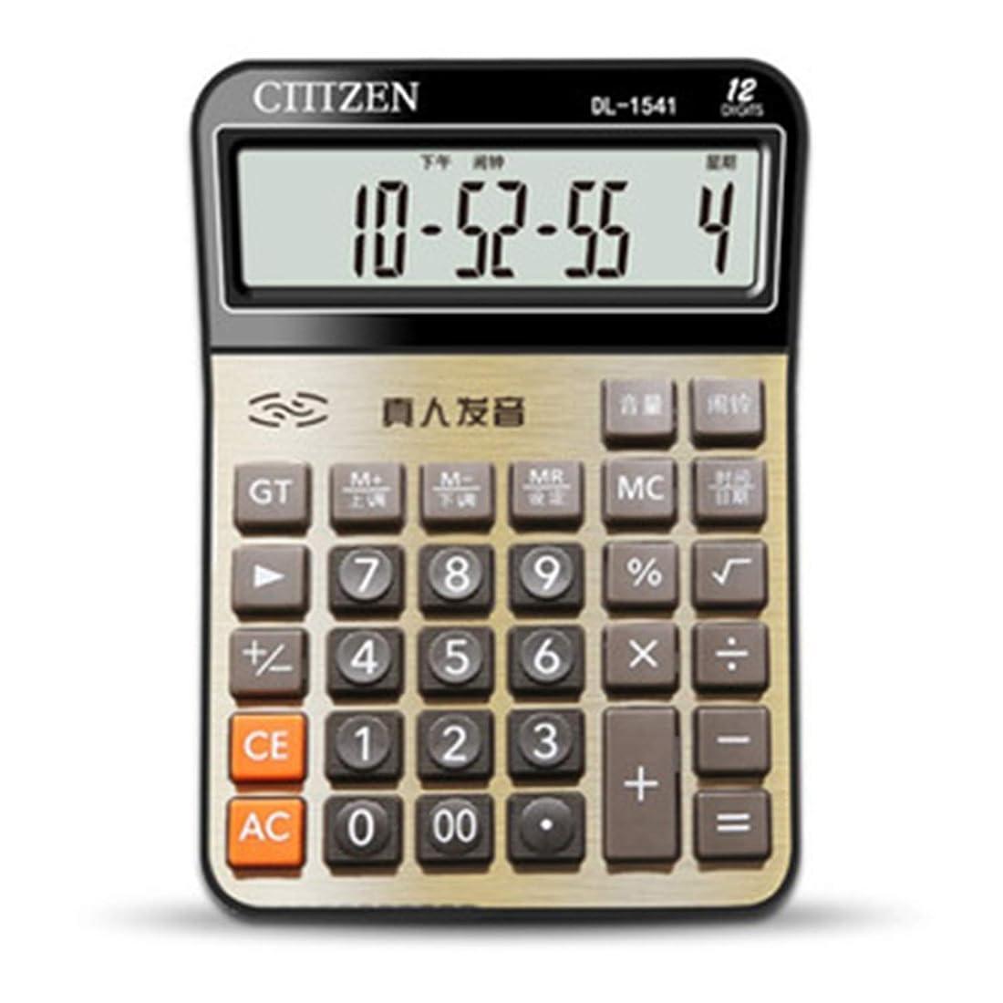 じゃがいも反対に百年小型密集した携帯用標準機能計算機しっかりと設計されている電池式のオフィススクールの財政の多色刷りの、金属のブラシをかけられたパネル