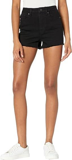 High-Rise Cutoffs Shorts/Joan in Black