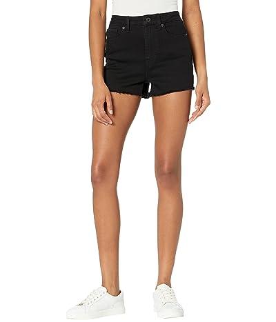 Buffalo David Bitton High-Rise Cutoffs Shorts/Joan in Black