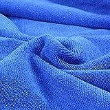 Belmalia 2 Mikrofaser Hand-Tücher XXL sehr saugfähig und schnell-trocknend 180 x 75 cm Pink + Blau - 3